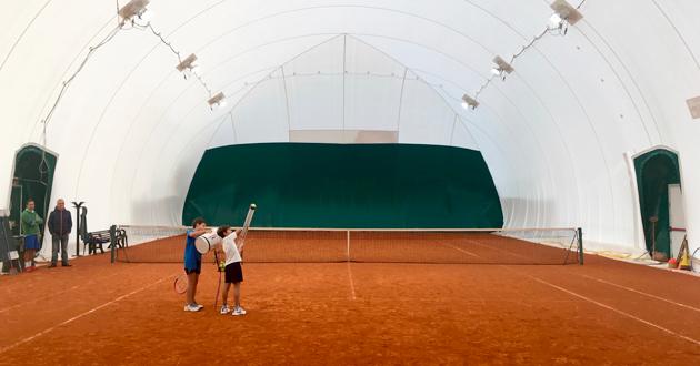 Carecaled installazione campo da tennis indoor caldiero verona