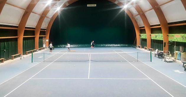 Carecaled installazione campo da tennis indoor moruzzo udine
